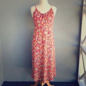 EXPRESS Red Yellow print Dress Size 7/8
